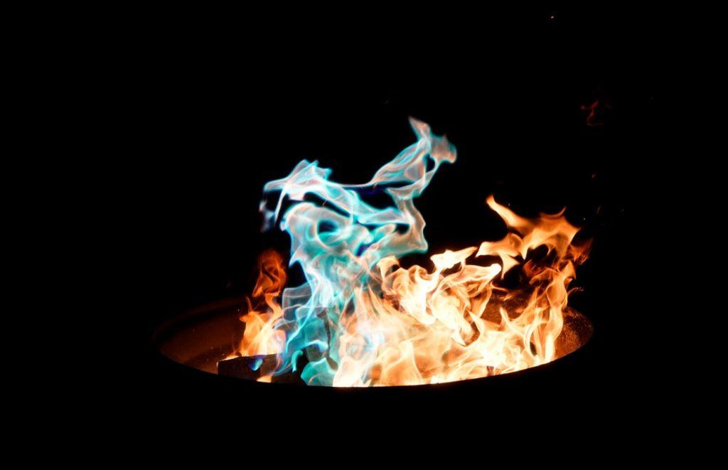 ogień w koksowniku